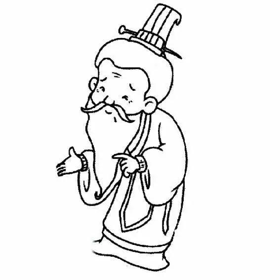 古代老爷爷人物肖像简笔画图片 简笔画网